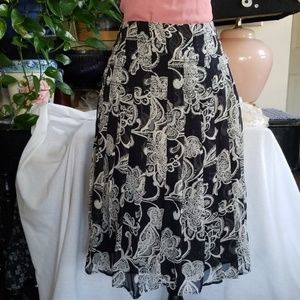 Oscar de la Renta Silk Skirt, Sz 10
